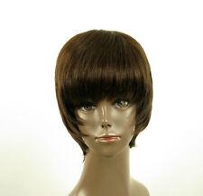 Perruque afro femme 100% cheveux naturel châtain ref LAET 01/6