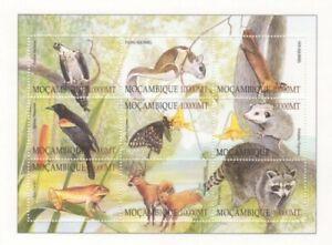 Mozambique 2002 - Fauna, Flora, and Mushrooms - Sheet of 9 - Scott 1549 - MNH