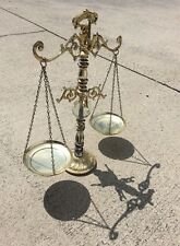 Vintage Antique Metal Crystal Ball Gold Weight Balance Scales Decorative Art