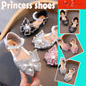 Infant Kids Baby Girls Pearl Crystal Bling Bowknot Single Princess Party Shoes