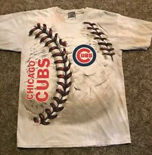 Chicago Cubs Tan Tye Dye Shirt, MLB, 2014 Liquid Blue, Sz Large