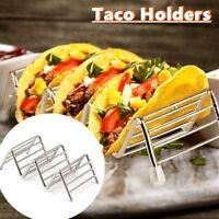 Stainless Steel Baking Dishwasher Safe Taco Holder Pizza Stand Rack Food Display