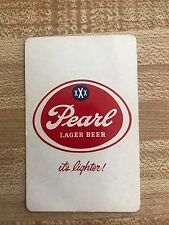 Pearl Lager Beer Playing Card Ace Of Clubs