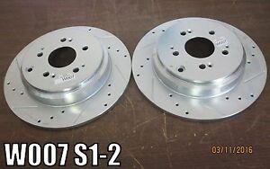 Power Stop JBR1332XR JBR1332XL Drilled Rotor Brake Right & Left FITS HONDA/ACURA