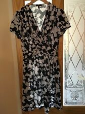 MANDI Summer Blue Mix (Navy Blue And White) skater dress Size 12