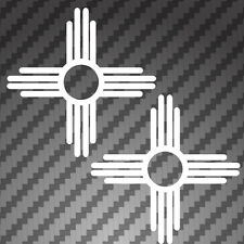 "2x New Mexico State Flag Die Cut 4"" Sante Fe Logo Sticker Decals pick color"