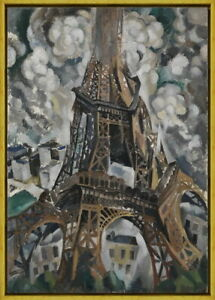 Framed Robert Delaunay The Eiffel Tower Giclee Canvas Print Paintings Poster