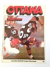 1970 Canadian Football League Illustrated OTTAWA ROUGHRIDERS CFL