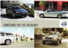 Volvo Car Rental 2007-08 UK Market Foldout Sales Brochure V50 C70 V70 XC90