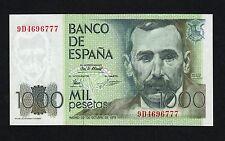 F.C. 1000 PESETAS 1979 , SERIE 9D , EBC+ , PICO DOBLADO .
