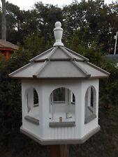 Large Gazebo Vinyl Bird Feeder Amish Homemade Handmade Handcrafted White & Clay