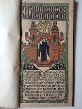 "LIBRO ANTICO LEGATURA CARTONATA DECORATA ""MUNCHENER KALENDAR"" 1902"