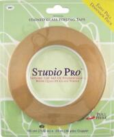 "STUDIO PRO STAINED GLASS 7/32"" COPPER FOIL IN DISPENSER PACK ROLL"