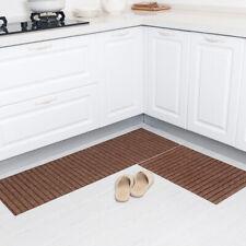 Kitchen floor mat oil absorption non-slip foot mat,Caf color,50*80+50*150cm