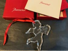 BACCARAT Crystal NOEL 1995 Ornament Etched Signed W/Original Box Pouch & Papers