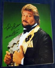 Ted DiBiase The Million Dollar Man Money Inc. WWF WWE Signed 11x14 Photo w/COA
