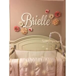 Name Sign Personalized Wooden Letters Baby Plaque Painted Nursery Decor Wall Art