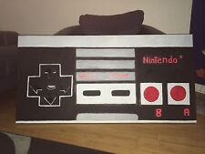 ONE OF A KIND HUGE 24X48 NINTENDO REMOTE CONTROL POP ART PAINTING MAN CAVE