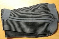 Striped patterned Nylon/Polyester socks. Retro/vintage style. BLUE/BLACK STRIPES