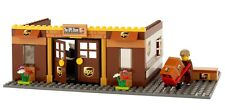 Lego Custom City UPS Store / Office. Mini fig. 3 Boxes. Parking. Ready to Play