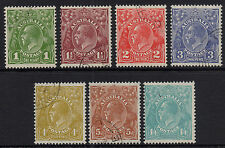 Australia - KGV C of A wmk short set of 7 - CTO