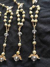 Baptism Favors Mini Rosary Angel Gold Crystal Para Bautizo Comunión 12