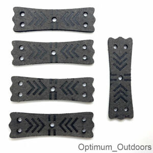 5 x Catapult Slingshot Microfibre Pouches 60mm x 18mm Hunting Band Pouch UK