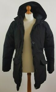 Firetrap Ladies Size 10 Thick Black Winter Coat with Hood Duck Down Filling