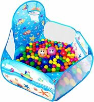 Ball Pit Pop Up Children Play Tent Ocean Pool Baby Tent with Basketball Hoop