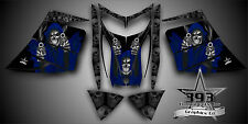SKI-DOO REV MXZ SNOWMOBILE SLED WRAP GRAPHICS DECAL KIT 03-07 Reaper Blue