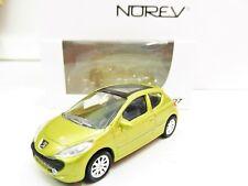 """Peugeot 207 3P Jaune 1/64 3 Inches NOREV  Produit NEUF !! """"PORT Groupés"""""""