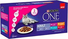 PURINA ONE Adult Cat Food Mini Fillets in Gravy, 40 x 85g
