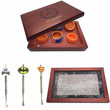 Illuminati Wood Dab Kit.Superman Carving Tool, 3 Piece Silicone, 1 Non Stick Mat