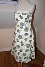 BNWT RED HERRING Ivory Mix Floral Print Strapless Formal Wedding Dress Size 14
