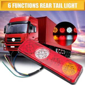 2 Rear Tail Light Lamp 12V 6 Function 36LED Waterproof For Trailer Caravan Truck