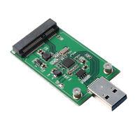 PC Mini mSATA SSD to USB 3.0 SATA Adapter Card External Caddy Converter Board