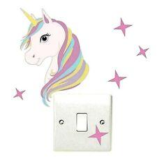 Unicorn Light Switch Wall Stickers Children Girls Bedroom sticker