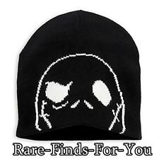 Disney Parks Nbc Nightmare Jack Skellington Adult Beanie Cap/Hat (New With Tags)