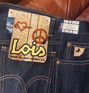 Lois Vintage 1970s Flares Jeans Denim Pants High waist Size 40 32/32 inches
