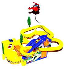 Elektrische Kinder Spielzeug Autobahn Rennbahn mit Musik Autos Und Hubschrauber