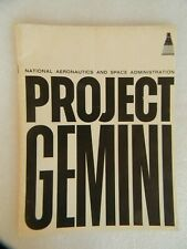 VINTAGE PROJECT GEMINI BOOKLET - NASA OFFICE OF PUBLIC AFFAIRS - 52 PAGES, 1966