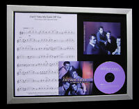FRANKIE VALLI Can't Take Eyes MUSIC CD QUALITY FRAMED DISPLAY+FAST GLOBAL SHIP