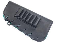 buttstock cover, 6 rifle cartridges holder, genuine leather, left handed