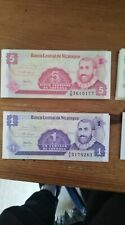 lote 108 billetes.sin circular nicaragua
