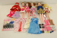 Barbie doll, Licca-chan doll, etc. Doll 5, clothes accessory Lot A0006