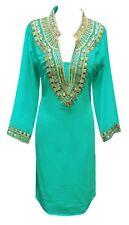 Women's Tunic Kurti tops kurta Bollywood Party wear heavy thread embroidery 7006