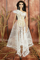 ELENPRIV White lace one-shoulder dress for Fashion Royalty FR2 dolls