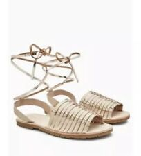 New *Next* (size Uk 5) Cream / Neutral Leather Flat Sandals Lace Up (EU 38)