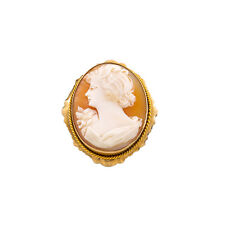 Gold Pin Brooch Pendant 7.7 Grams Cameo Antique Victorian Style 10K Yellow