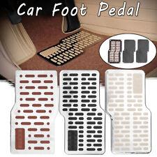 Stainless Floor Carpet Mats Non-slip Heel Plate Foot Rest Pedal Pad Universal
